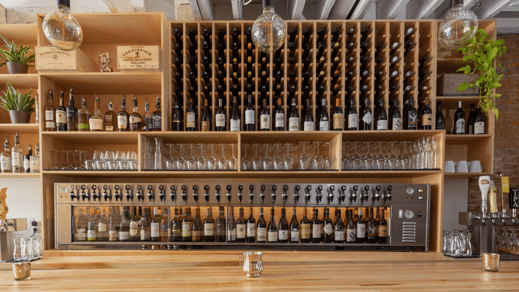 Ripple wine bar interior photography